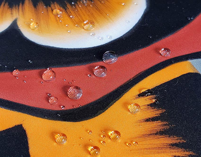 撥水加工のアップ